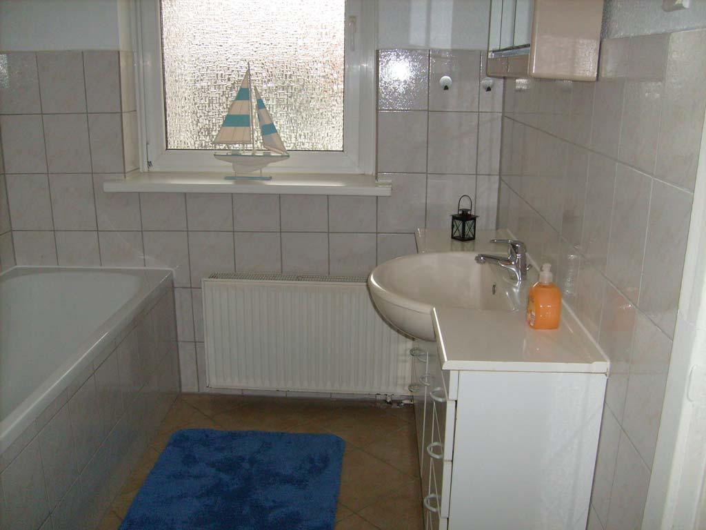 Badezimmer der Monteur Wohnung in Lübeck